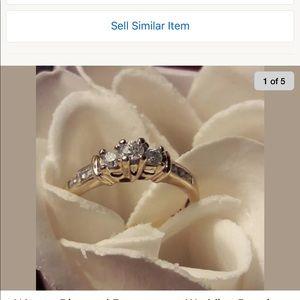 Jewelry - Ring 10k 3 stone past present future 1/4 Ct wt