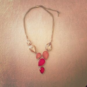 Sparkly Orange and Gold Tone Kenneth Cole Necklace