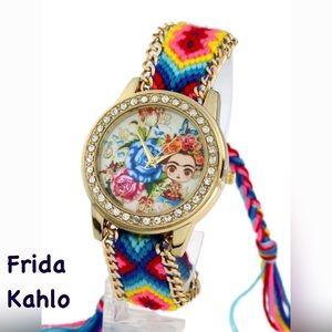 Other - Frida Kahlo Girl Image Boho Bracelet Watch