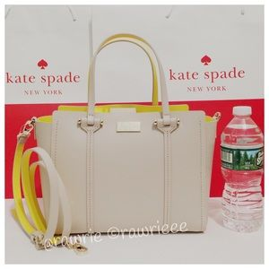 New Kate Spade Light Beige Alston Satche