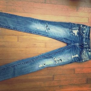 Size 27 Signature Rise Cuffed Skinny Miss Me jeans