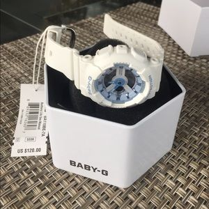 BRAND NEW White Baby G Watch