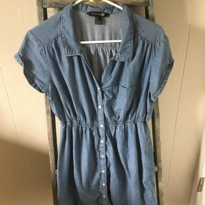 Forever 21 Chambray Style Button Up Dress