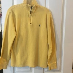 Men's size small Polo sweater canary yellow new