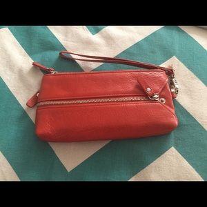 Handbags - Orangey genuine leather wallet