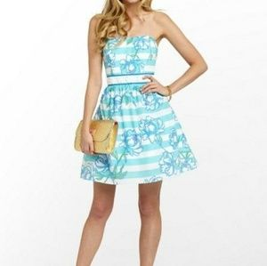 Lilly Pulitzer Tossing The Line Strapless Dress
