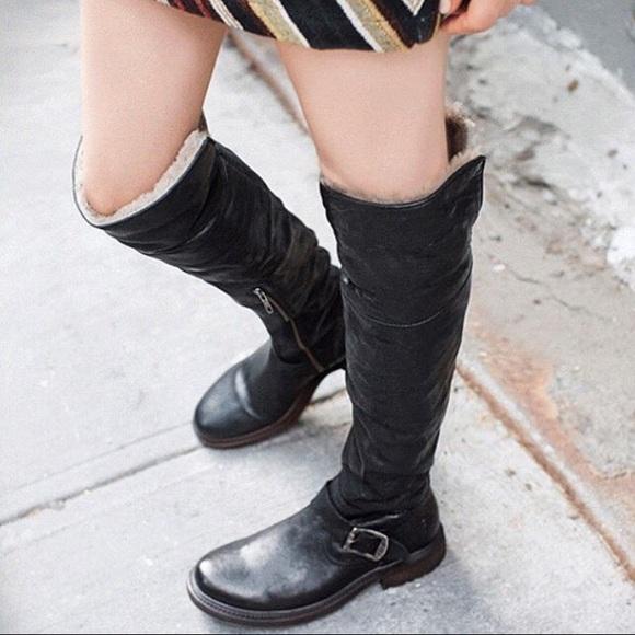 0ea13e012d3 Frye Shoes - Nearly new Frye Valerie OTK shearling boots 7