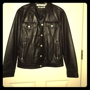 NWOT Genuine Leather Jacket by Tommy Hilfiger