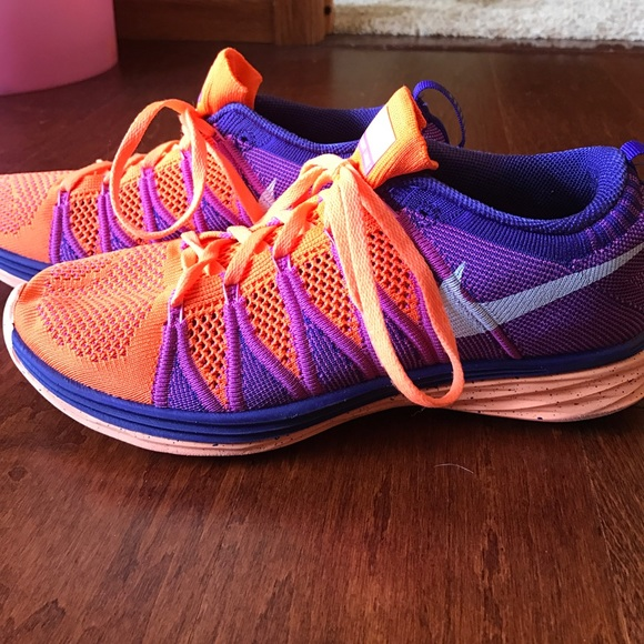 on sale de054 68893 Orange and Purple women s Nike flyknit lunar 2. M 59a2ebf14225be954705705b