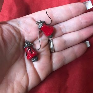 Jewelry - Red  Christmas bell earrings