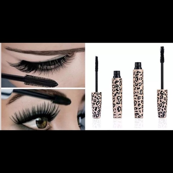 Unbranded Makeup Mascara Wgel And Fiber Lashes Cheetah Print
