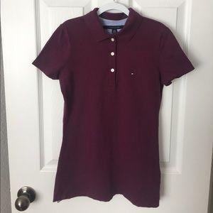 Tommy Hilfiger purple cute polo golf top