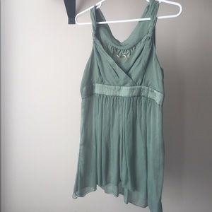 NWOT MAXSTUDIO Sweet Seafoam Sleeveless Silk