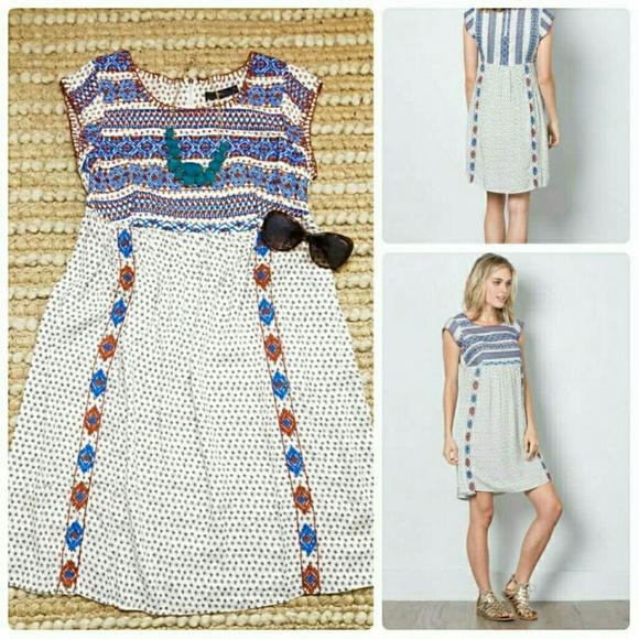 bafaea824f THML Dresses   Babydoll Embroidered Boho Dress   Poshmark