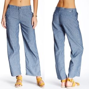 MOTHER The Greaser Prep Feathers Wide Leg Pants 28