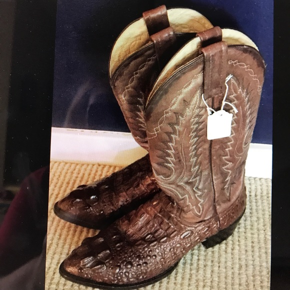 eb5504204f8 Men's vintage cowboy boots leather/alligator