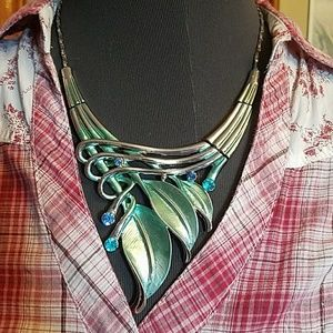 Gorgeous Teal and Silver Necklace