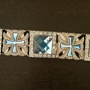 atlas Accessories - Zebra Bling Cowgirl Western Belt
