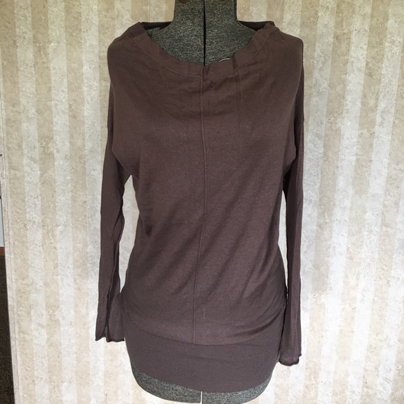 LOFT Sweaters - Taupe long sweater.