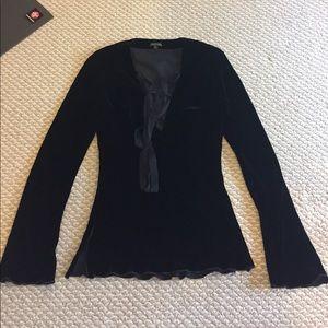 Bianca Nero Silk velvet suit (top & pants)