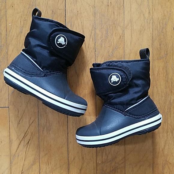 Kids Crocband Ii5 Gust Boot Blackblack