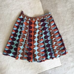 Tory burch pleated silk skirt