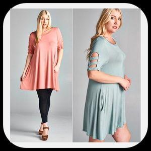 Dresses & Skirts - ️5⭐Plus Size Swing Dress/Tunic w/Pockets