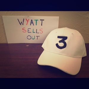 Other - White Chance the Rapper Strapback Cap