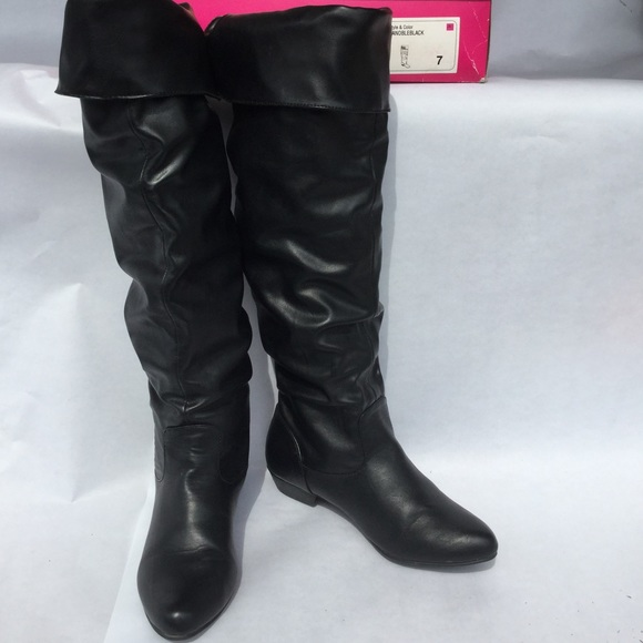 df5d9275036 Candie s Shoes - Candies Over the Knee Black boots
