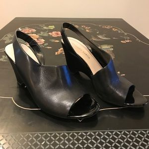 Black sling back wedges. Franco Sarto sz 9.5