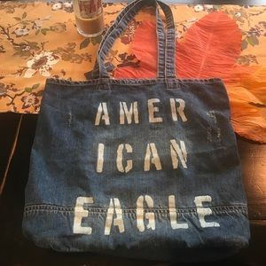 AEO destructed book bag nwt