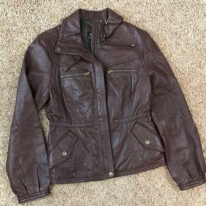 a.n.a Brown Genuine Lambskin Leather Jacket