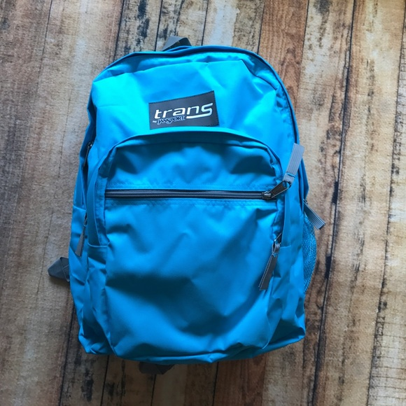 NWOT Aqua Blue Trans Jansport Backpack