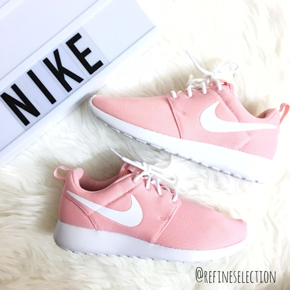 Nike Shoes Roshe Run One Sheen Pink White Sneakers Poshmark