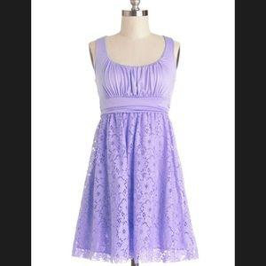 ModCloth 💜 Lavender Dress Small Purple Lace