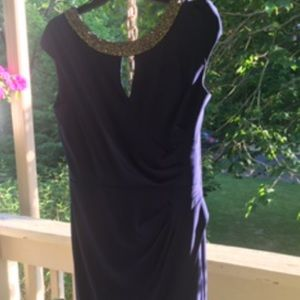 Dresses & Skirts - Navy blue and silver cocktail dress