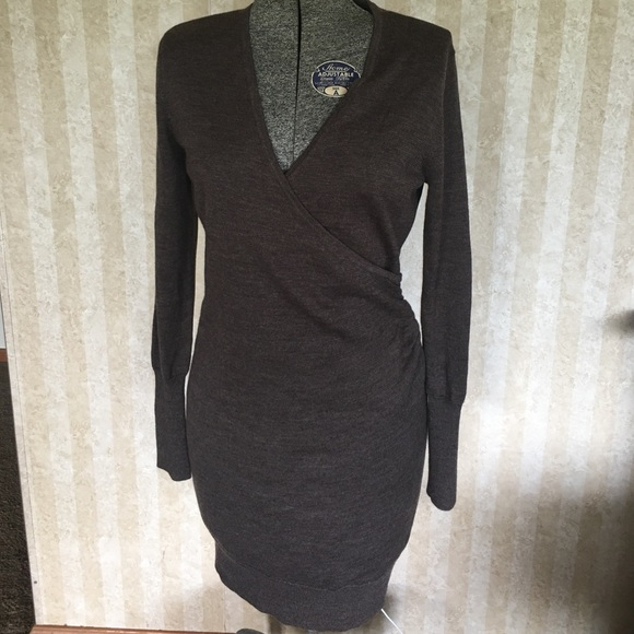 LOFT Dresses - Light brown LOFT sweater dress.