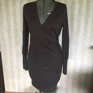 Light brown LOFT sweater dress.
