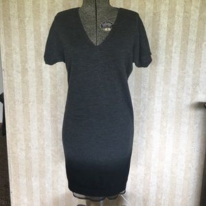 LOFT v-neck ombré sweater dress.