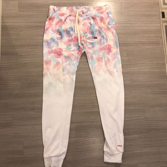 Peace Love World Floral Satai Sweatpants