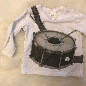 H&M Drummerboy Long Sleeved Top 4-6M