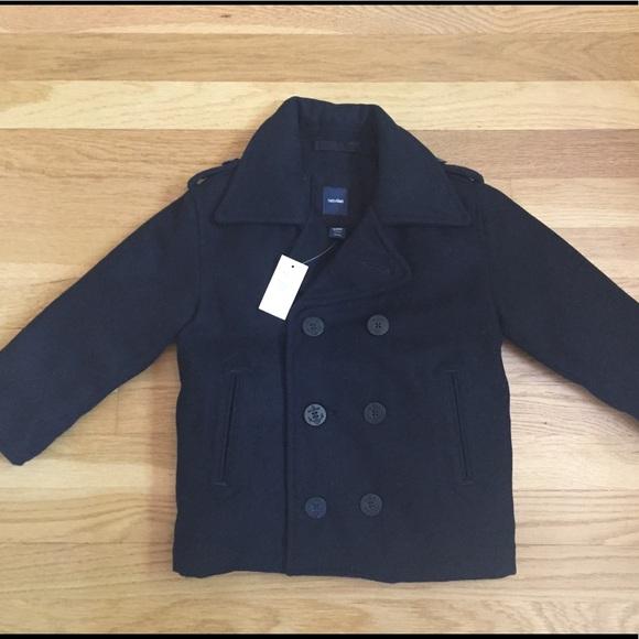Gap Jackets Amp Coats Baby Boys Navy Wool Pea Coat 3t Nwt