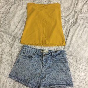 Pants - Jean Short & Tube Top