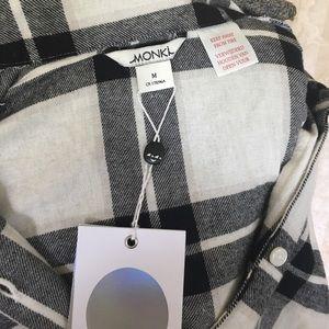 monki Intimates & Sleepwear - Black and white flannel pajamas.