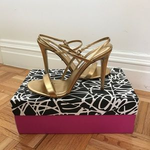 DVF Ulla Metallic Leather Sandals