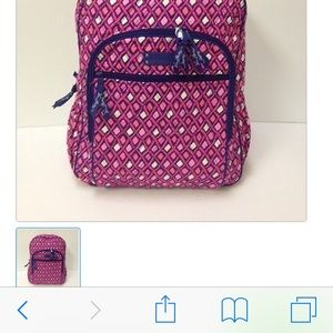 Vera Bradley Katarina Pink large quilted backpack