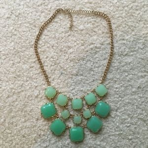 Jewelry - Teal and Gold Statement Necklace