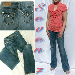 Seven 7 blingy boot cut jeans