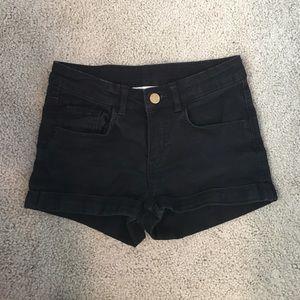 Girls black denim shorts!