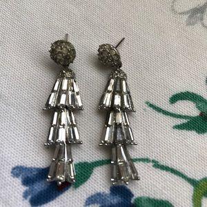 Vintage chandelier rhinestone earrings
